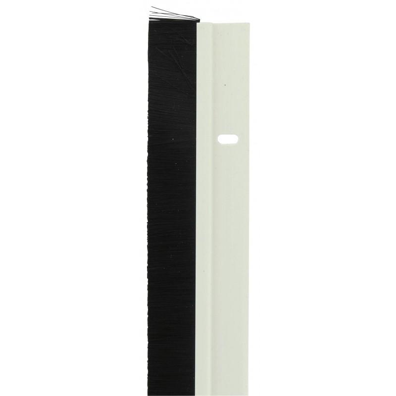 Bas de porte brosse pvm blanc de bas de porte 1087350 for Bas de porte exterieur