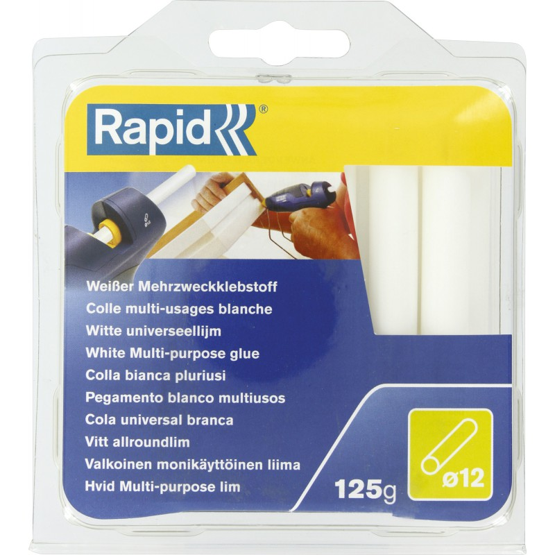 Colle multi-usage diamètre 12 mm Rapid Agraf - Blanc - 125 g