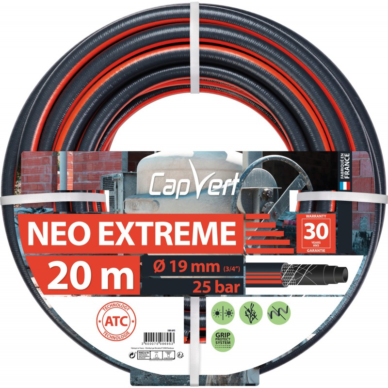 Tuyau d'arrosage Néo Extrême Cap Vert - Diamètre 19 mm - Longueur 20 m