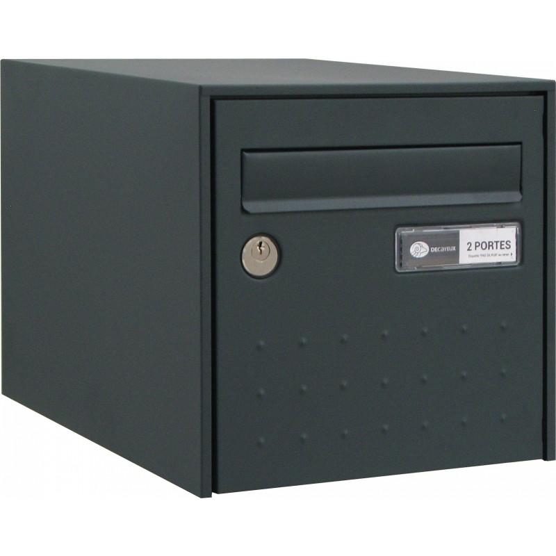 Boîte aux lettres Gris anthracite double face - STEEL BOX