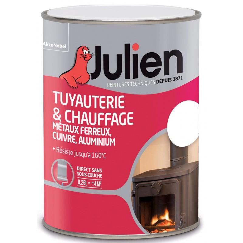 Peinture tuyauterie et chauffage Julien - Blanc - Brillant - 250 ml