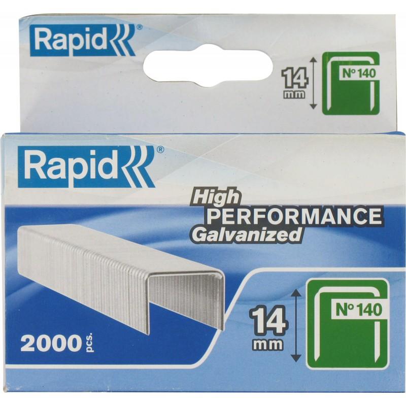Agrafe n°140 Rapid Agraf - Hauteur 14 mm - 2000 agrafes