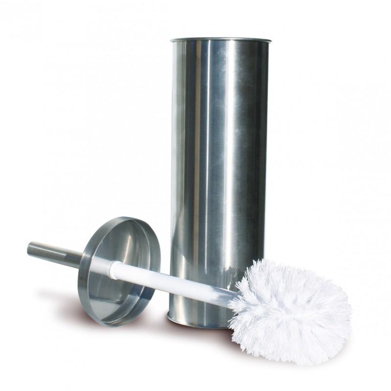 Porte balai m tal avec brosse arvix de brosse wc porte for Cuisine metal brosse