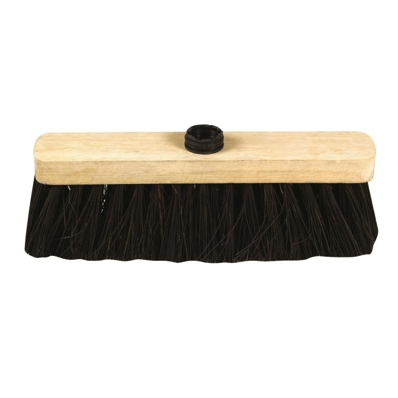 Balai d'extérieur Brosserie Marchand - Monture bois brut à douille 70 mm - Ciment