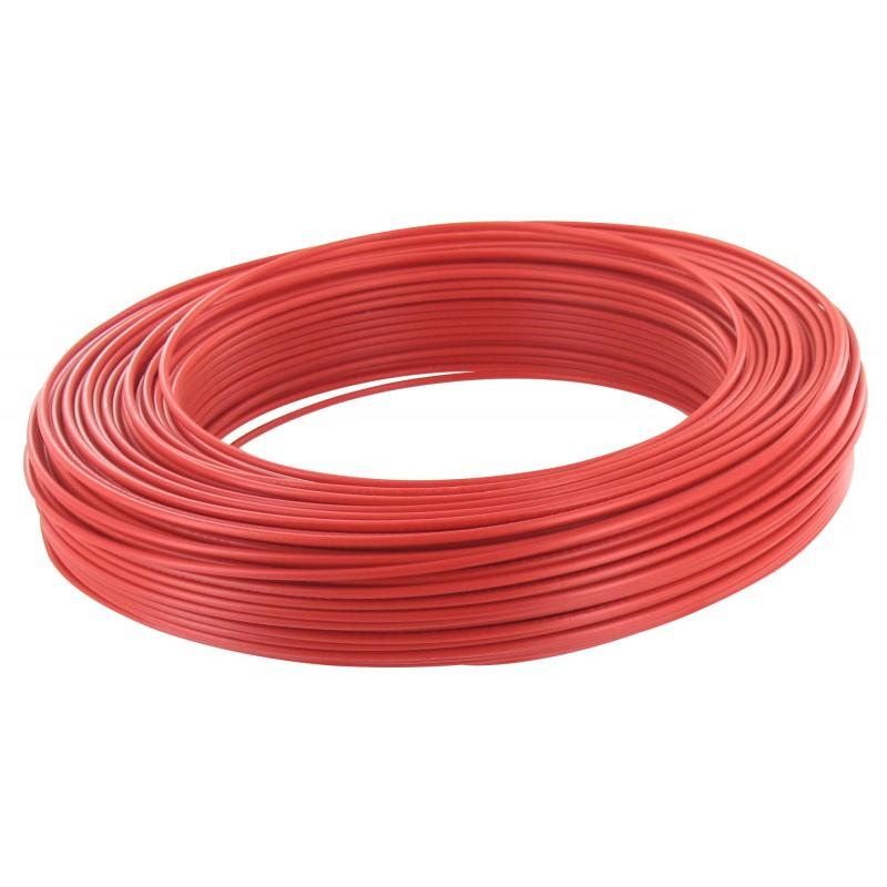 Fil H07 V-U 1,5 mm² - Couronne 100 m - Rouge
