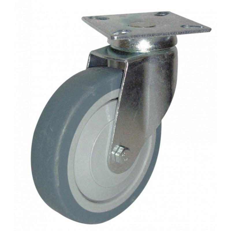 Roulette Uniroll à platine pivotante Guitel point M - Diamètre 100 mm