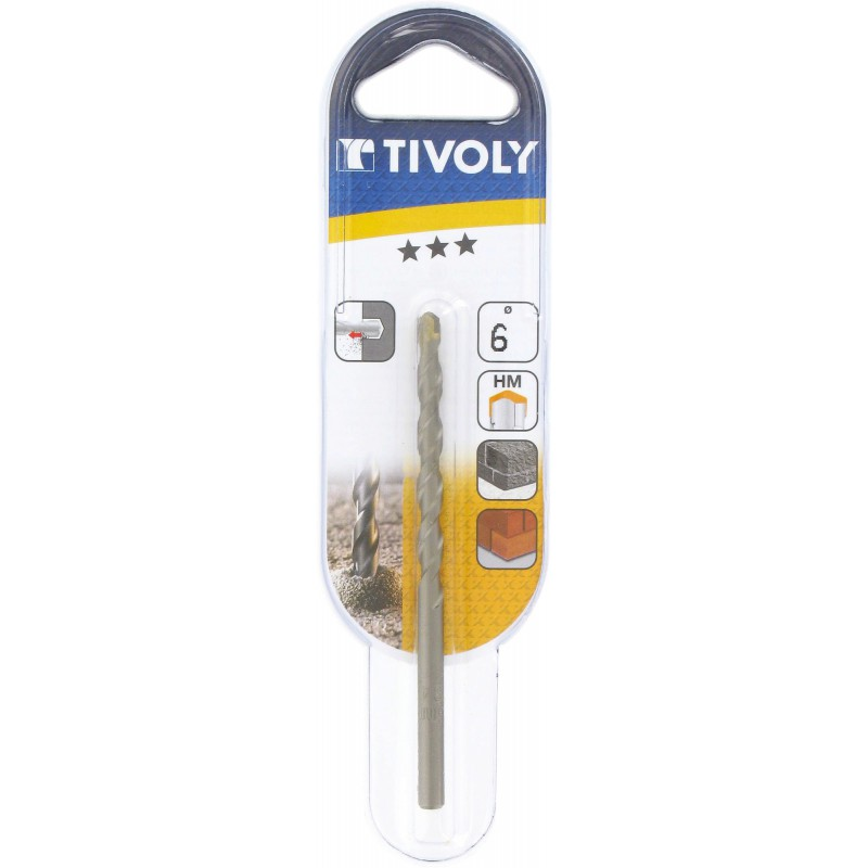 Foret à béton usage fréquent Tivoly - Longueur 100 mm - Diamètre 6 mm - Vendu par 1