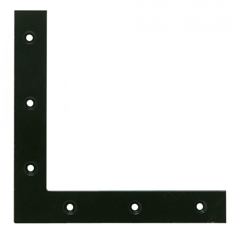 Equerre de fenêtre bouts carrés phorétique noir Jardinier Massard - Dimensions 16 x 16 cm