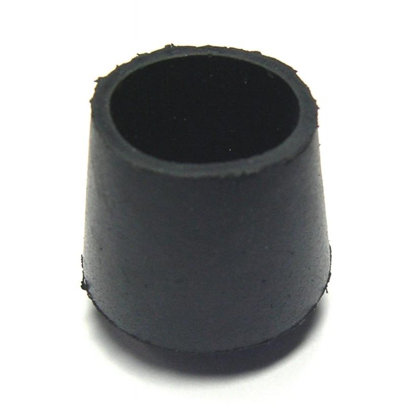 Embout enveloppant caoutchouc noir Shepherd - Diamètre 30 mm