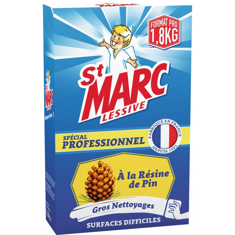 Nettoyages difficiles St Marc - Boîte 1,8 kg