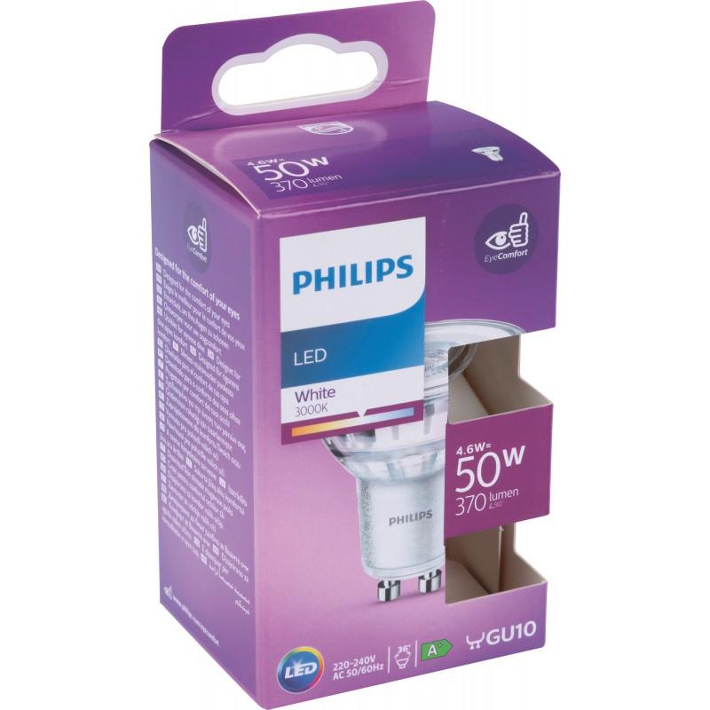 Ampoule LED spot Philips - 4,6 W - 370 lm - 3000 K - GU10 - A+