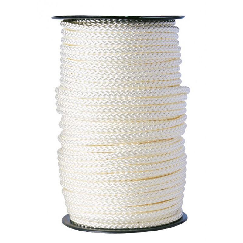 Drisse polyamide tressé blanc Corderies Tournonaises - Longueur 100 m - Diamètre 10 mm