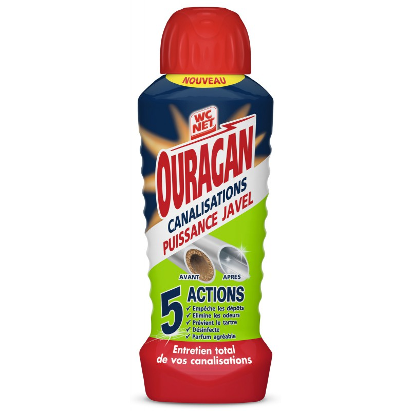 WC Net Ouragan canalisations Javel - Flacon 700 ml