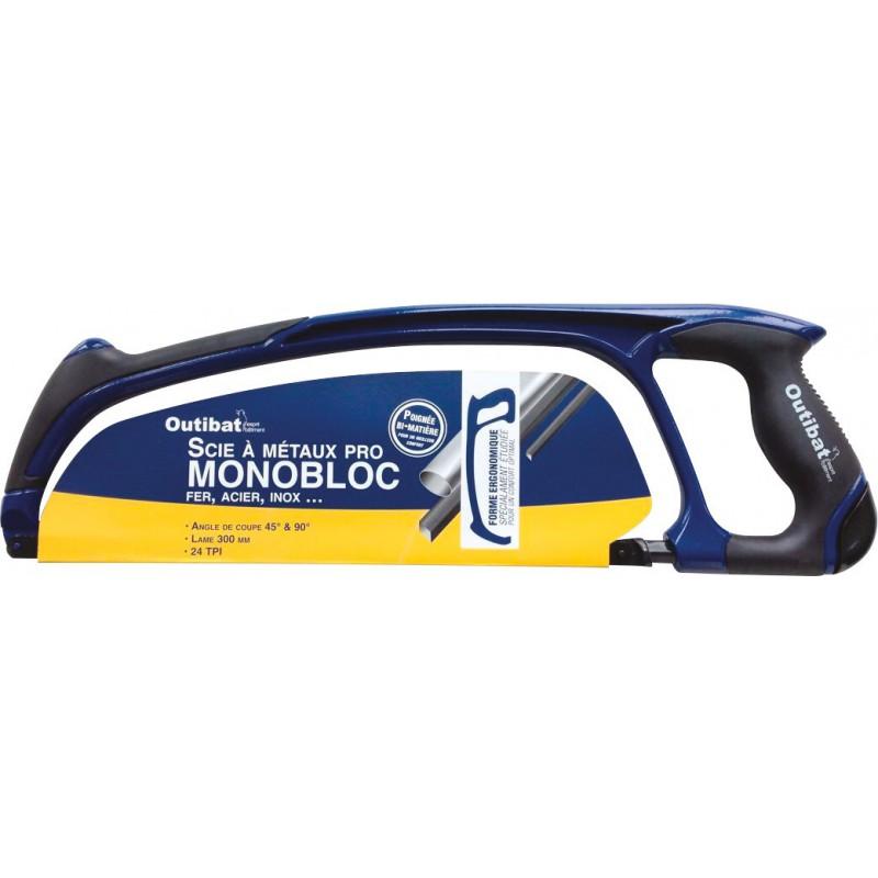 Scie à métaux pro Monobloc Outibat - Longueur 440 mm