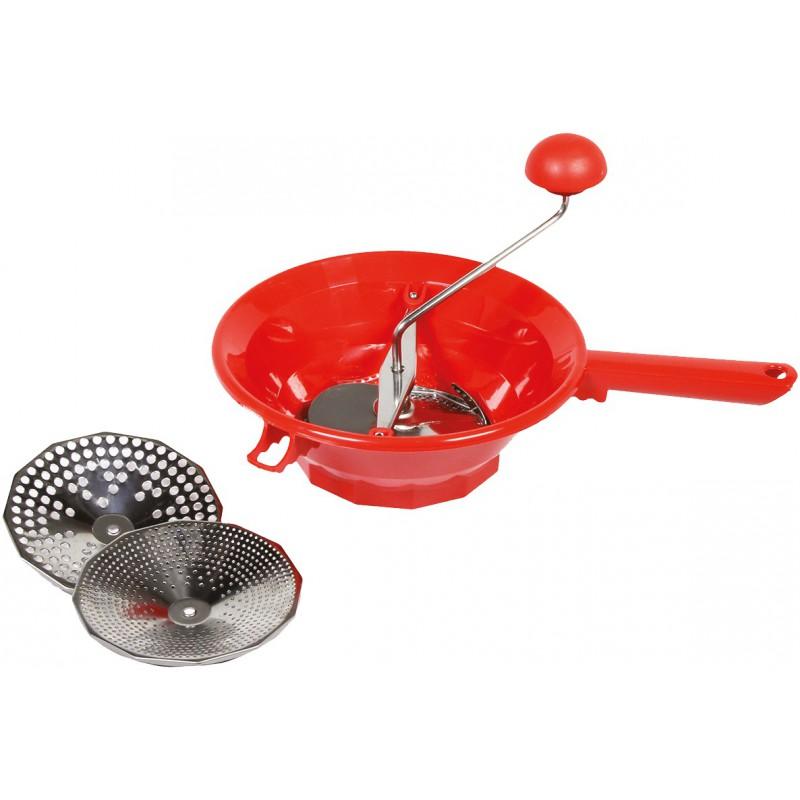 Moulin à légumes plastique rouge Comptoir Conserve - Diamètre 24 cm
