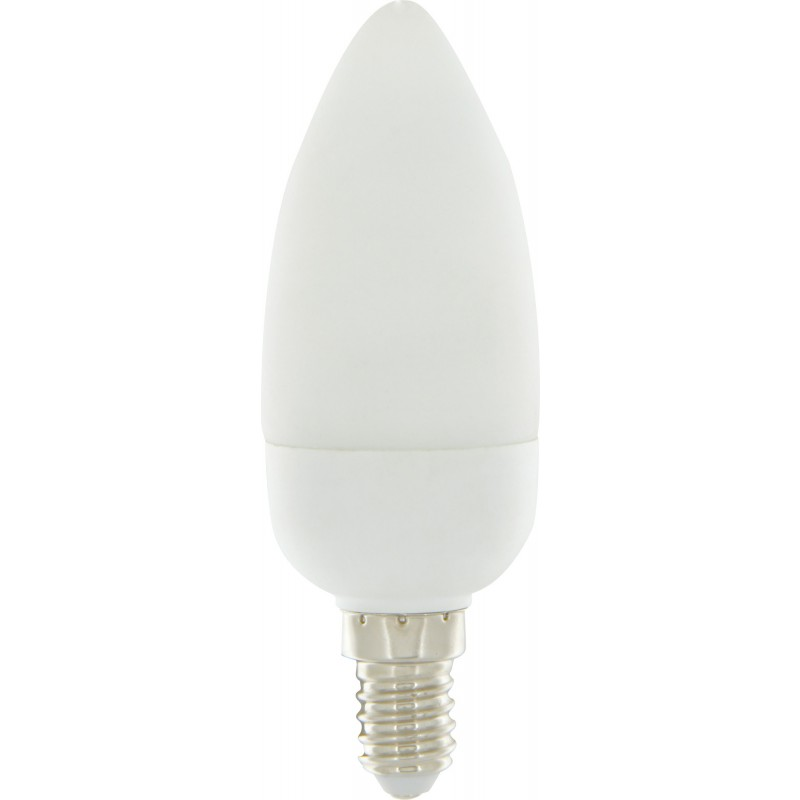 Ampoule fluocompact flamme E14 Dhome - 406 Lumens - 9 W