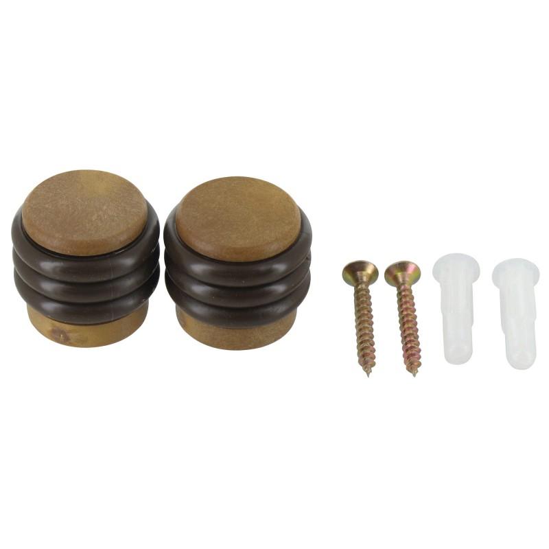 Butée fixation sol anneaux GPI - Imitation bois - Diamètre 28 mm