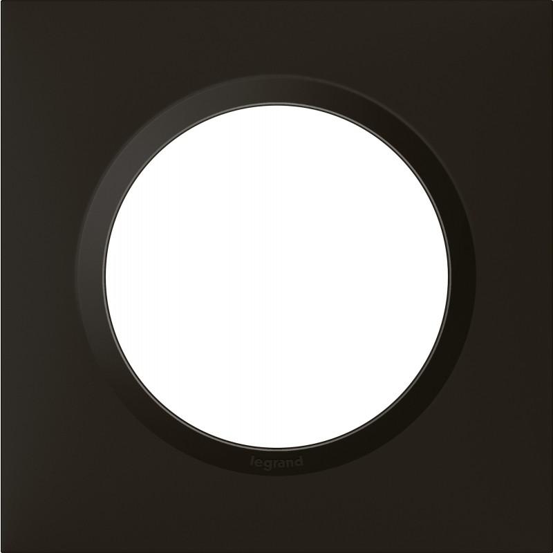 Plaque 1 poste Dooxie Legrand - Noir velours