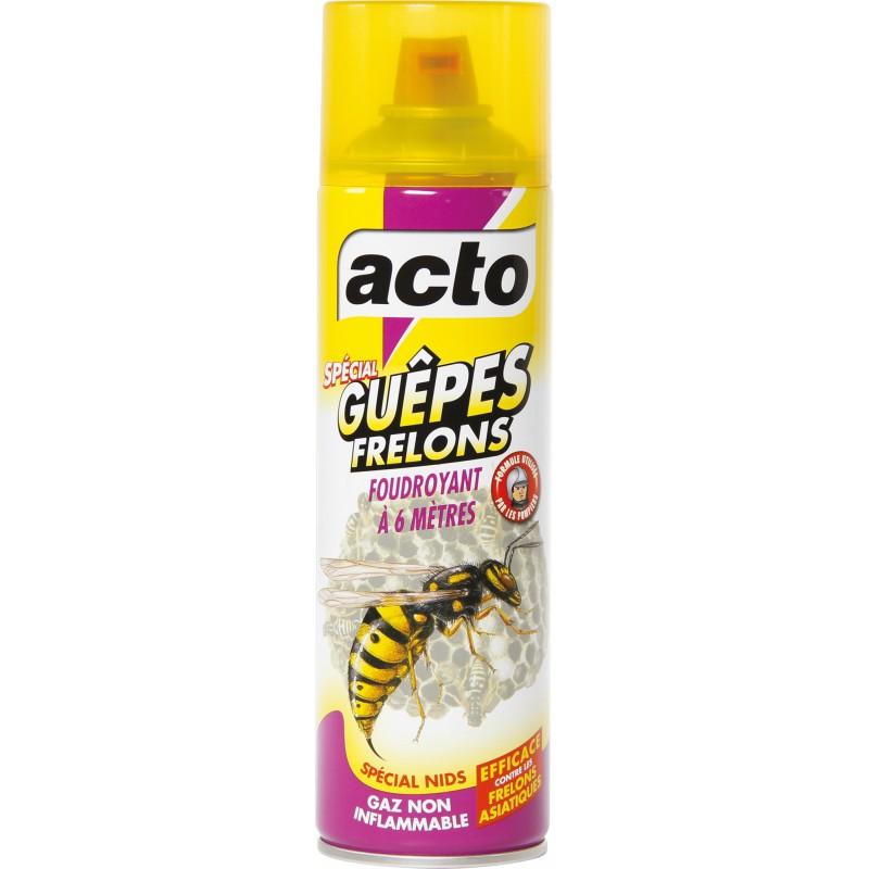 Insecticide guêpes et frelons pulvérisateur Acto