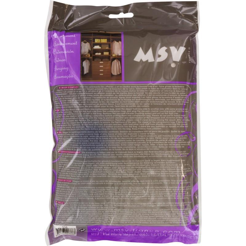 housse gain de place msv a ranger longueur 100 cm largeur 110 cm de housse de v tement. Black Bedroom Furniture Sets. Home Design Ideas