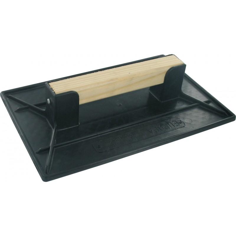 Taloche plastique noire rectangulaire Outibat - Dimensions 26 x 42 cm