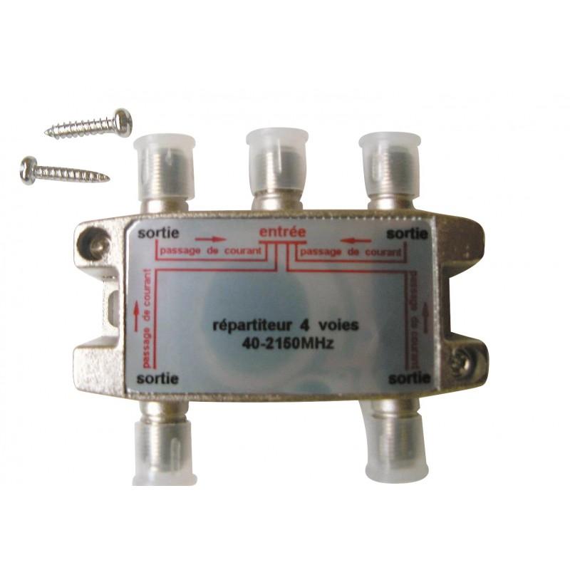 Répartiteur blindé Metronic - 40 - 2150 mhz - 4 sorties