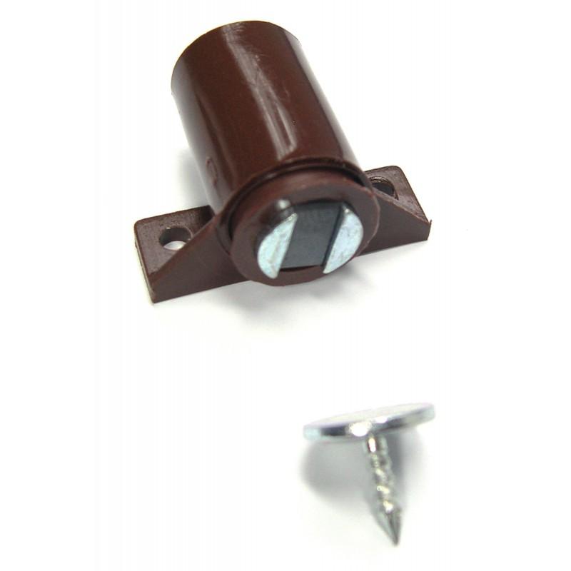 Loqueteau magnétique à visser 4 kg Strauss Vonderweidt - Marron - Dimensions 22 x 14 mm - Vendu par 1