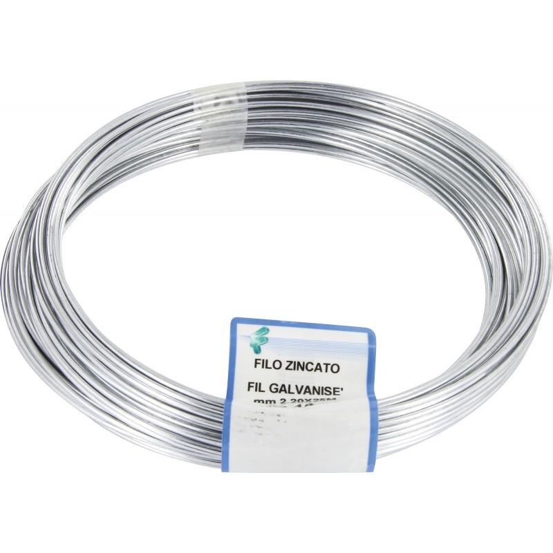 Corde linge galvanis diam tre 2 2 mm de corde for Tendeur fil a linge exterieur