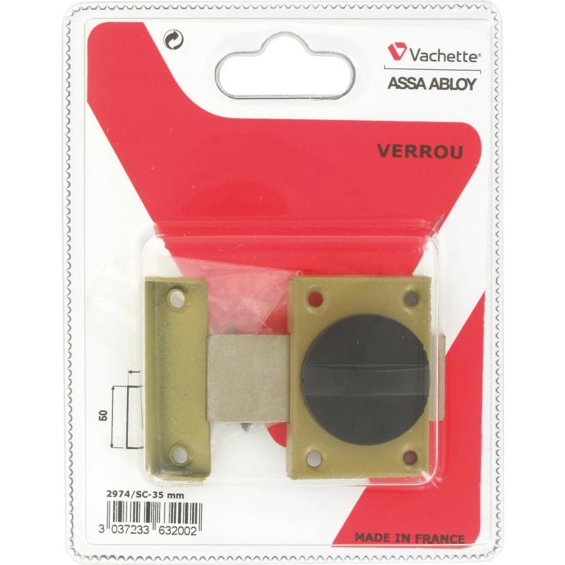 Verrou automatique verni Vachette - Longueur 35 mm