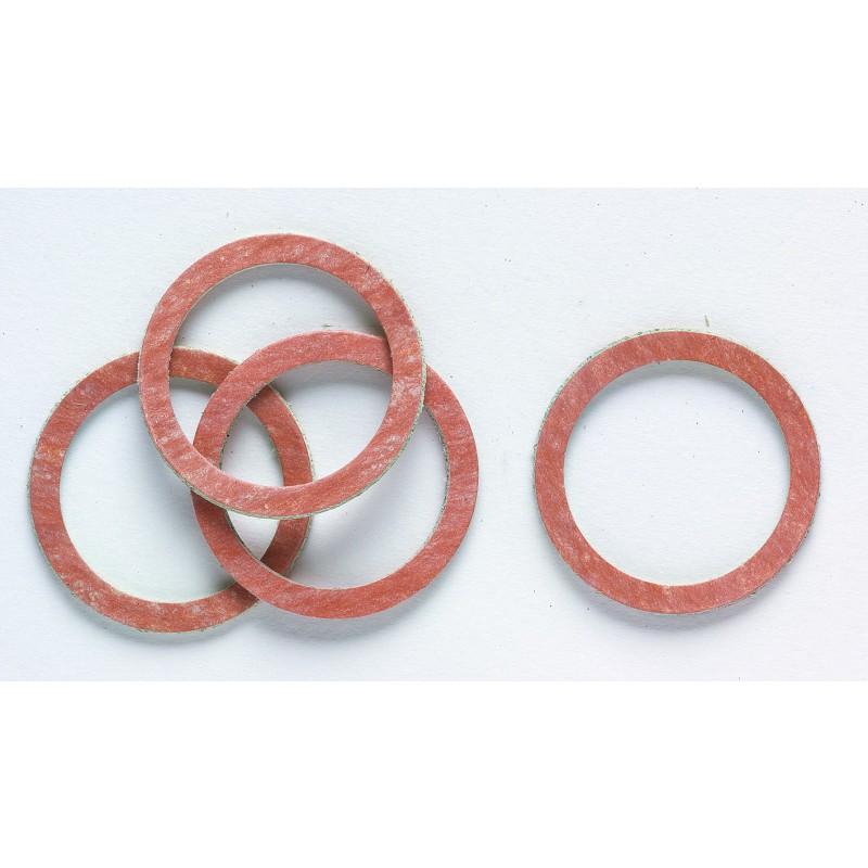 Joint caoutchouc synthétique cellulose - En sachet Gripp - Filetage 12 x 17 mm - Vendu par 9
