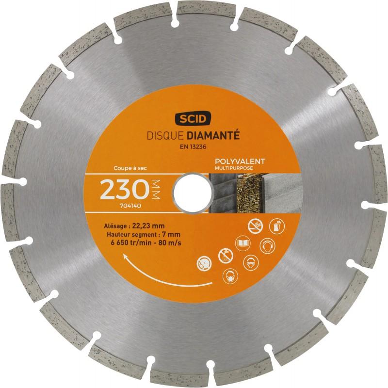 Disque diamanté polyvalent bricolage SCID - Diamètre 230 mm