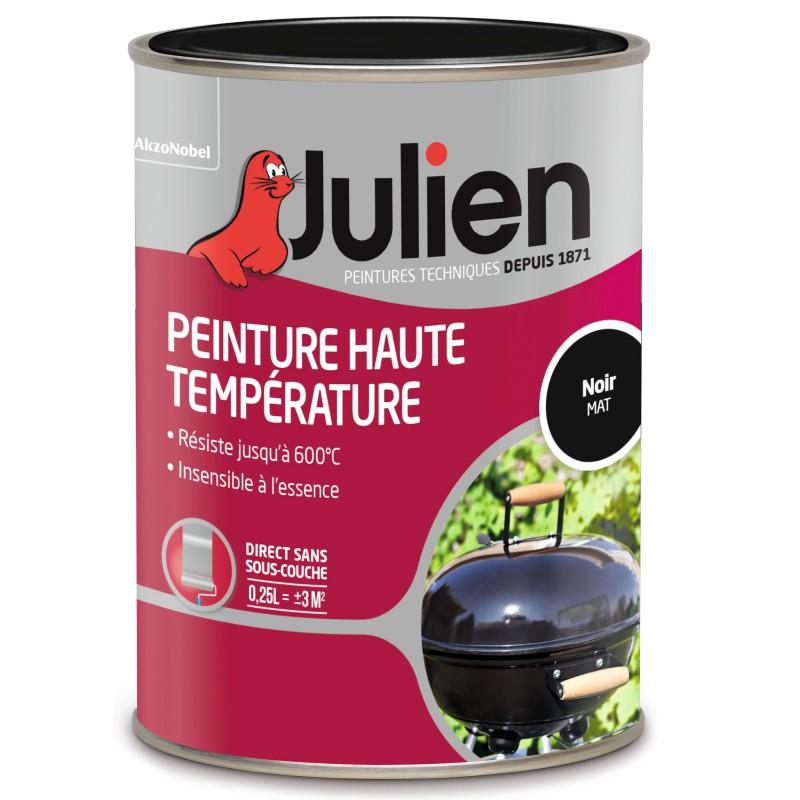 Peinture haute température Julien - Noir - 250 ml