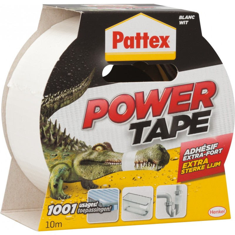 Adhésif super puissant Power tape Power Tape - Blanc - Longueur 10 m