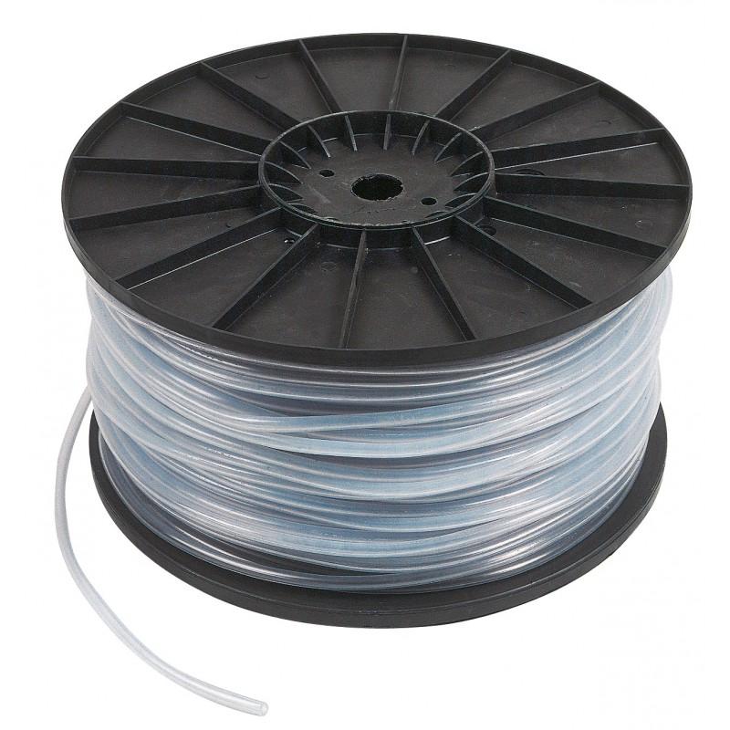Bobine dévidoir cristal non armé Cap Vert - Longueur 100 m - Diamètre intérieur 8 mm - Extérieur 11 mm