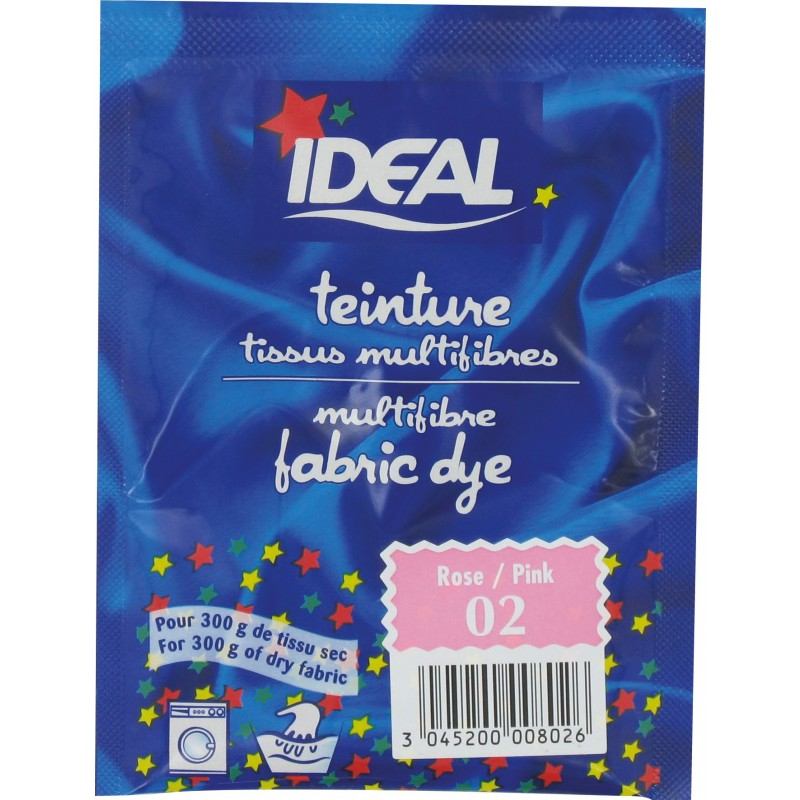 Teinture tissu main-machine Ideal - Sachet 15 g - Rose vif n°2