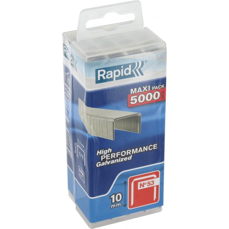 Agrafe n°53 Rapid Agraf - Hauteur 10 mm - 5000 agrafes