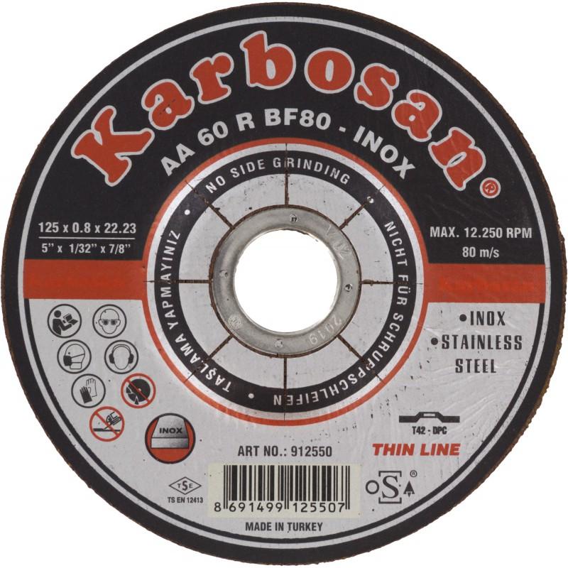 Disque à tronçonner acier et inox SCID - Diamètre 125 mm