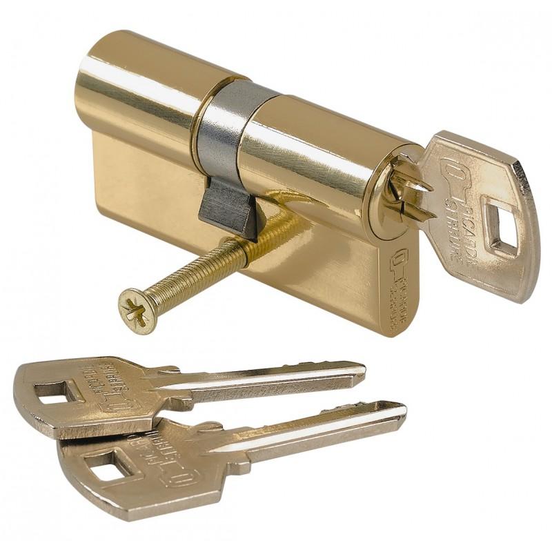 Cylindre de sureté double Carmine - Dimensions 30 x 30 mm