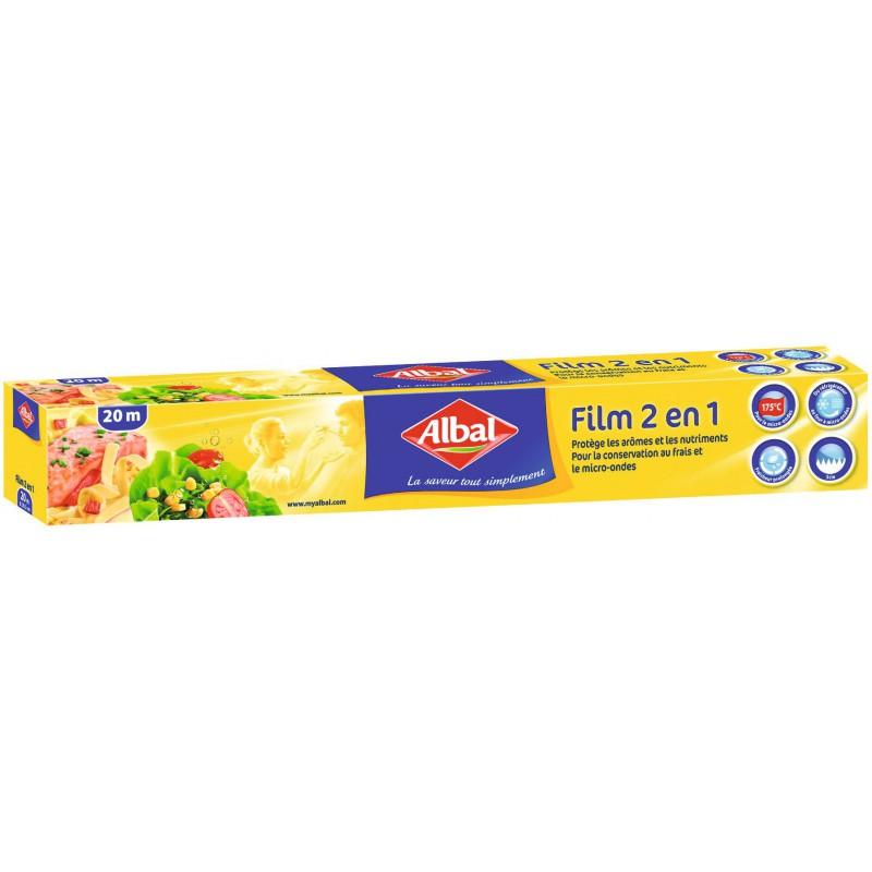 Film alimentaire et micro-ondes Albal - Rouleau - Longueur 20 m - Largeur 29 cm