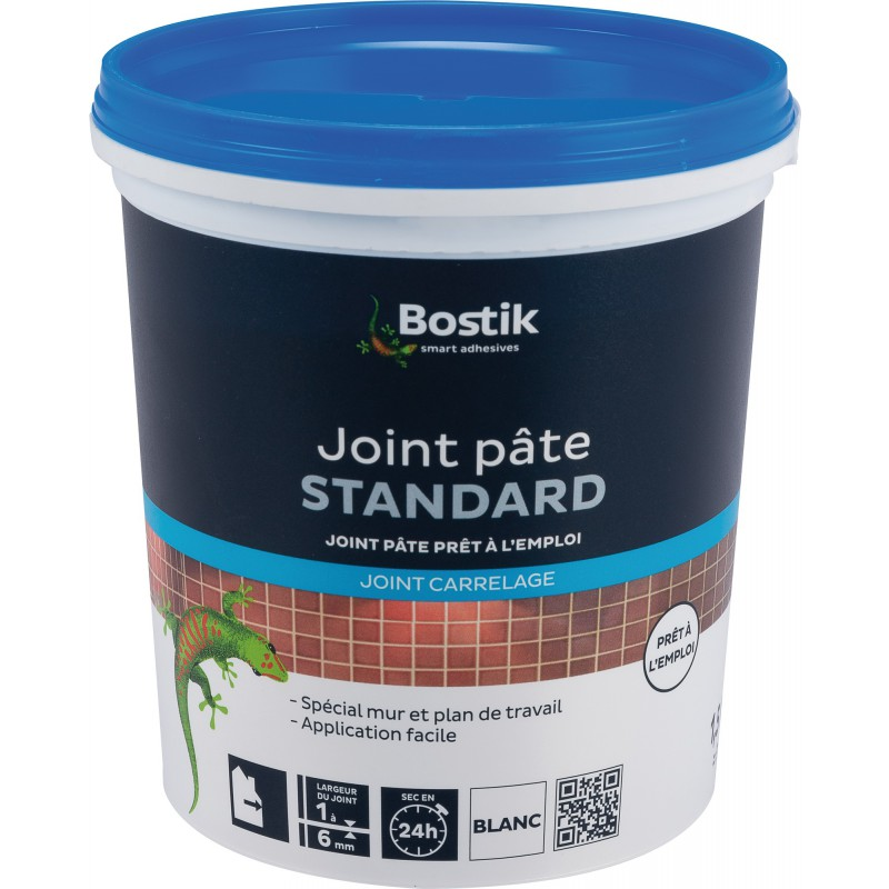 Joint pâte carrelage Bostik - Pâte blanche - Seau 1,5 kg