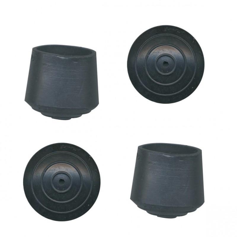 Embout enveloppant caoutchouc noir PVM - Diamètre 22 mm - Vendu par 4