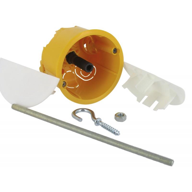 Boîte à encastrer pour luminaire Batibox Legrand - Boîte cloison sèche - Boîtier avec couvercle