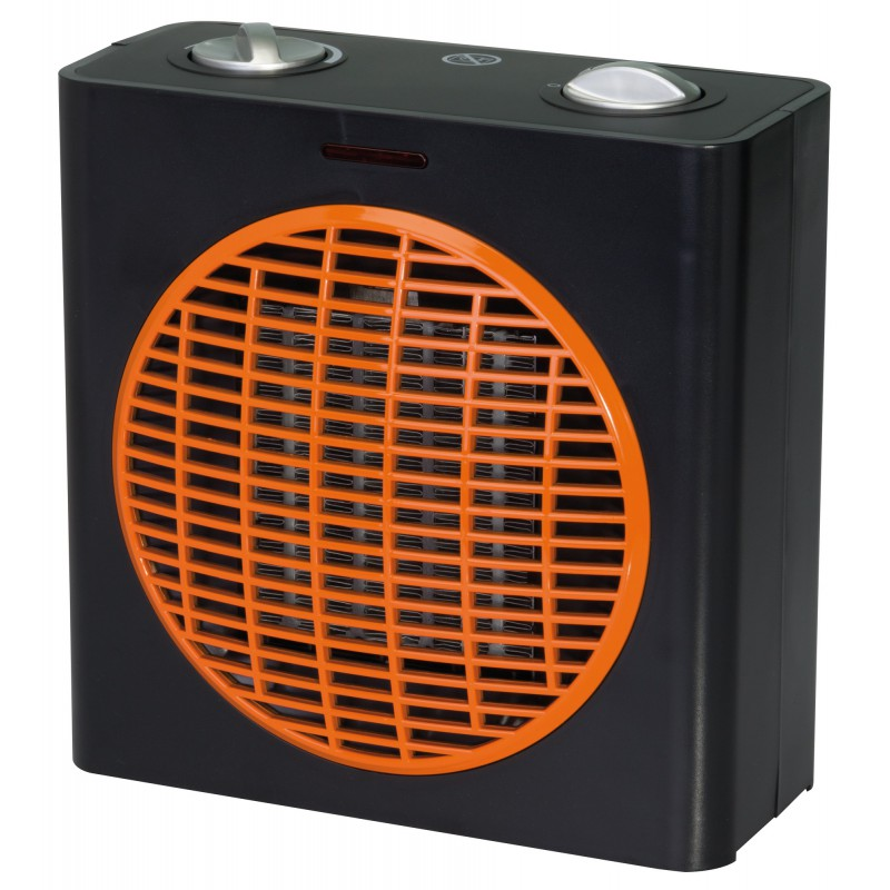 radiateur soufflant c ramique cube avec ventilation froide varma 1500 w orange. Black Bedroom Furniture Sets. Home Design Ideas
