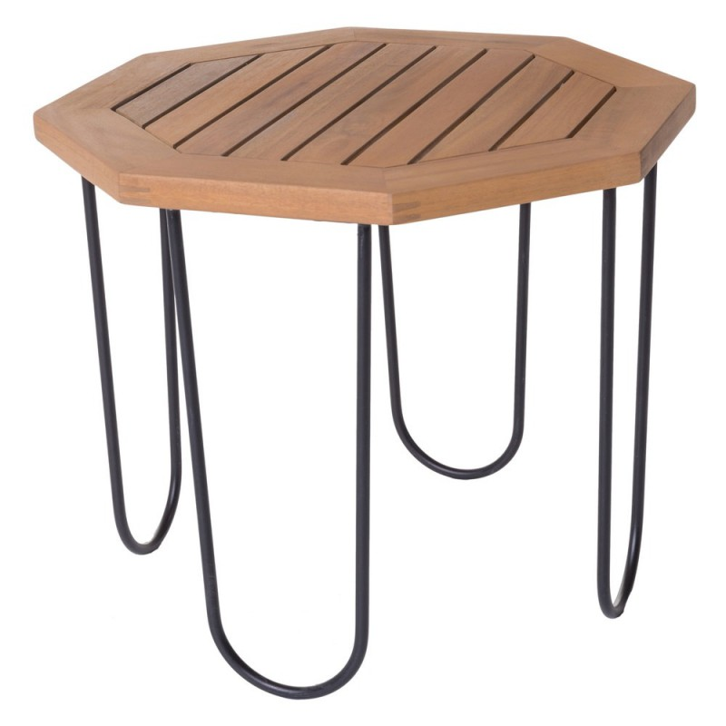Table basse de jardin hexagonale acacia - Salma