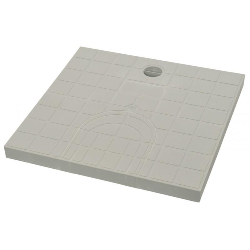 Tampon de regard prédécoupé Girpi - Gris - Dimension 30 x 30 cm