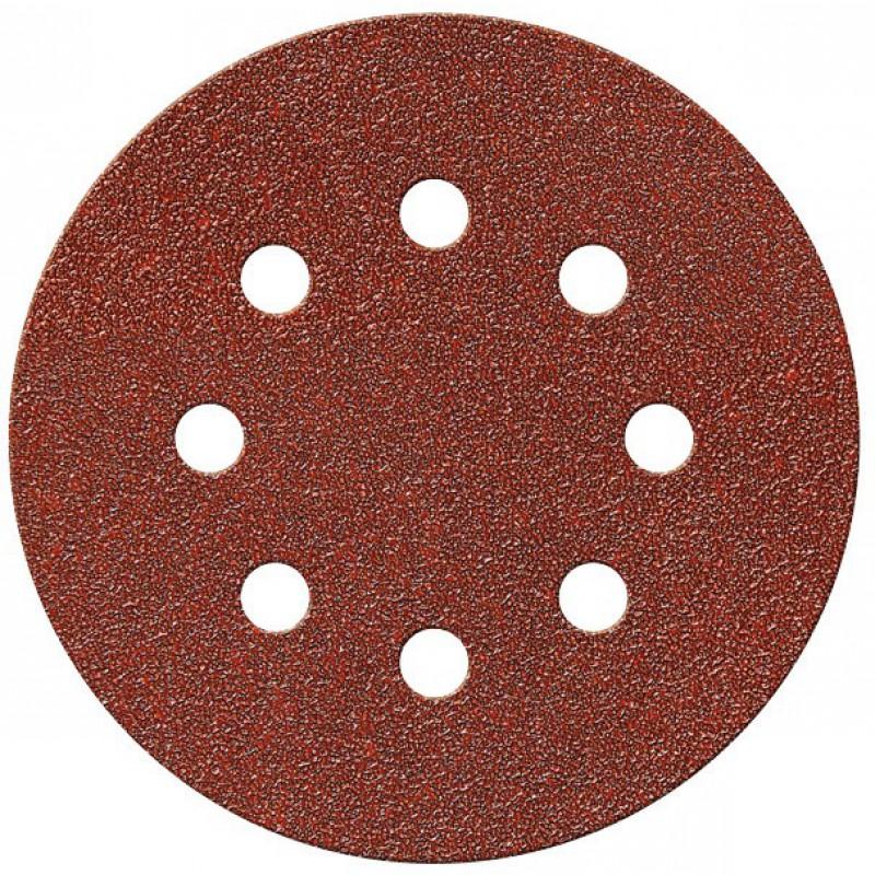 Disque auto-agrippant SCID - 8 trous - Grain 80 - Diamètre 125 mm - Vendu par 10