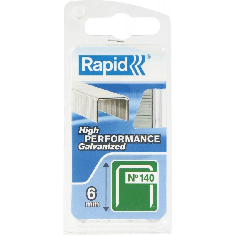 Agrafe n°140 Rapid Agraf - Hauteur 6 mm - 970 agrafes