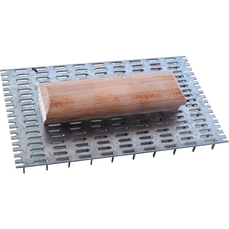 Taloche à pointes poignée bois Outibat - 144 pointes - Dimensions 15 x 20 cm