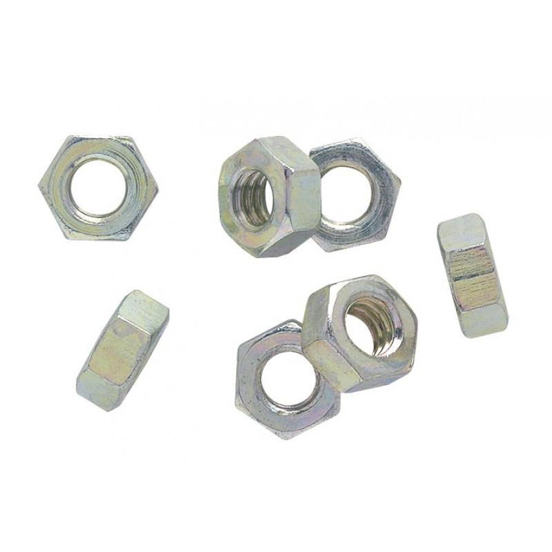 Ecrou seul acier galvanisé - Diamètre 7 mm - Vendu par 100