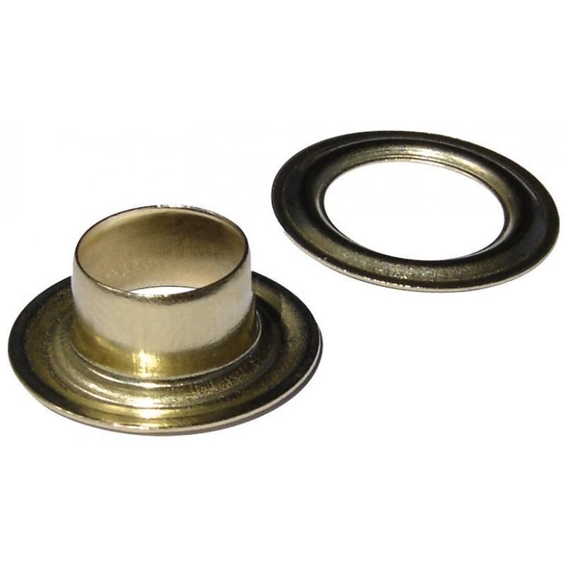 Œillet de bâche Fix'Pro - Diamètre Intérieur 10 mm - Vendu par 12